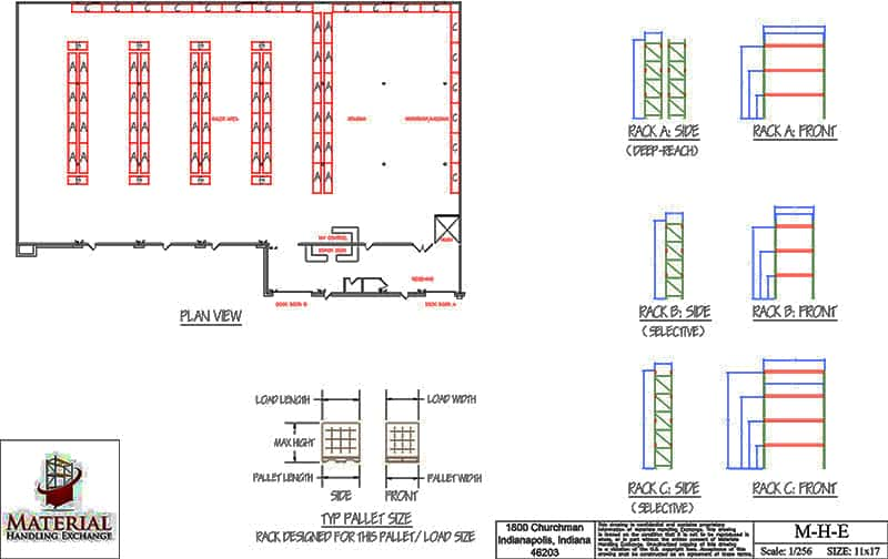 Modern warehouse layout and design material handling for Warehouse plans designs