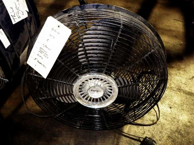 Warehouse Floor Fans : Used industrial warehouse floor rolling drum fans