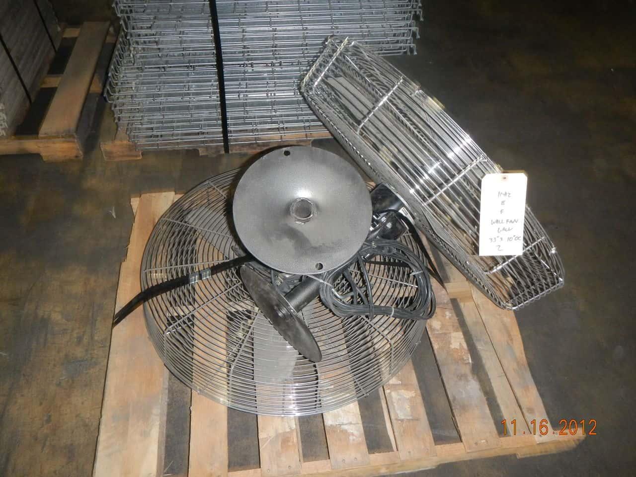 Used Industrial Wall Mount Fans - Fasco 33